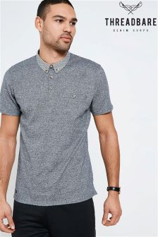 Threadbare Printed Collar Polo Shirt
