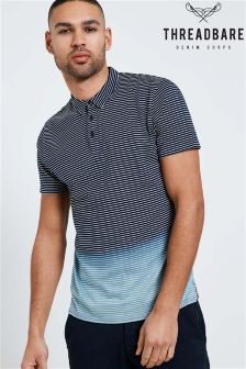 Threadbare Stripe Ombre Polo Shirt