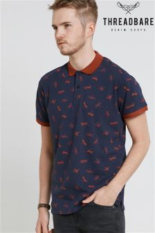 Threadbare Printed Polo Shirt