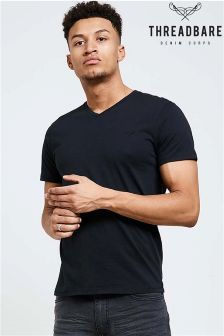 Threadbare Short Sleeve V neck Tee