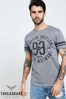 Threadbare Print Crew Neck T-Shirt