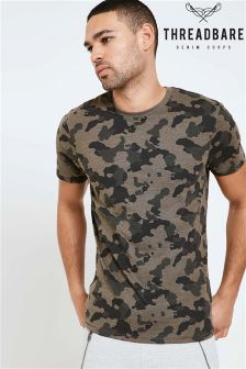 Threadbare Camouflage Crew Neck T-Shirt
