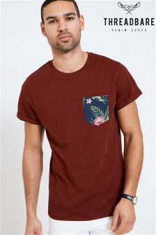 Threadbare Floral Print Pocket Tee