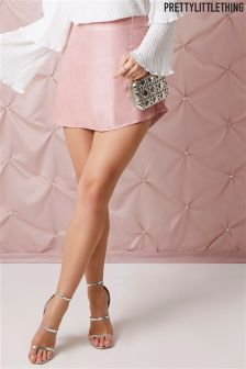 PrettyLittleThing Faux Suede A-line Mini Skirt