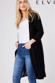 Elvi Pleated Jacket With Slits