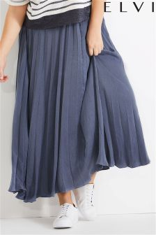 Elvi Long Pleated Skirt