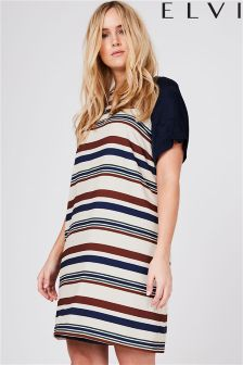 Elvi Striped Shift Dress