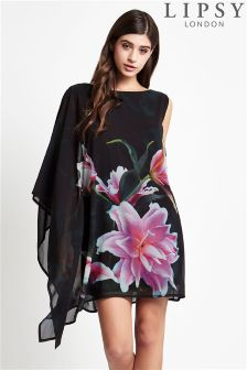Lipsy Drape Printed Shift Dress