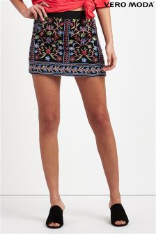 Vero Moda Embroidered Mini Skirt
