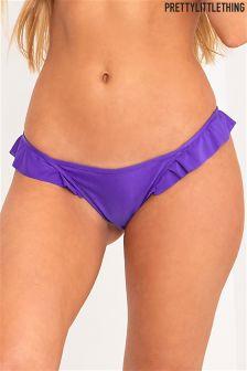 PrettyLittleThing Frill Tie Side Bikini Bottoms