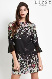 Lipsy Fluted Sleeve Shift Dress