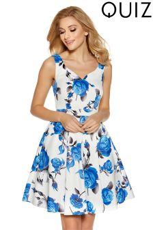 Quiz Print Prom Dress