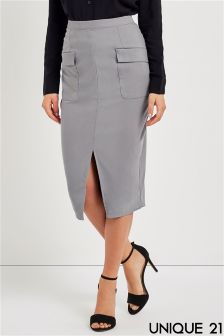 Unique 21 Pocket Pencil Skirt