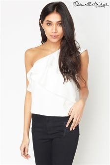 Miss Selfridge Structured One Shoulder Top