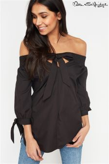 Miss Selfridge Bardot Bow Sleeve Tunic