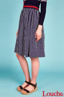 Louche Print Midi Skirt