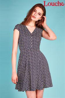 Louche Bird Print Tea Dress
