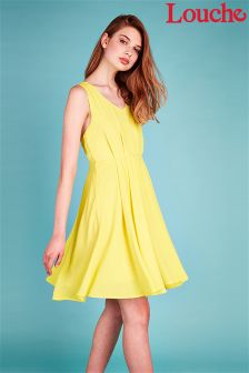 Louche Open Tie Back Skater Dress