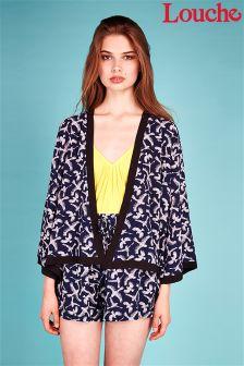 Louche Bird Print Kimono