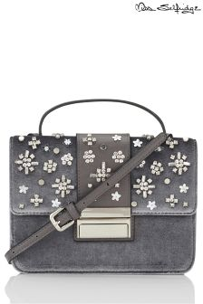 Miss Selfridge Velvet Embellished Bag