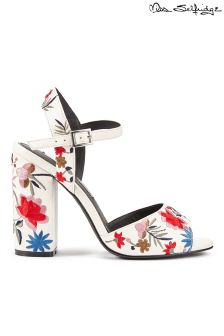 Miss Selfridge Embroidered Block Heel Sandals
