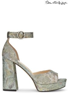 Miss Selfridge Metallic Jacuqard Shoes