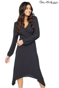 Miss Selfridge Polka Dot Wrap Midi Dress