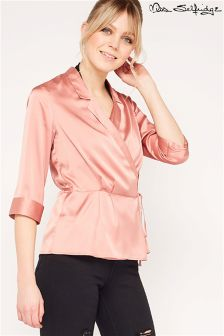 Miss Selfridge Luxe Wrap Blouse