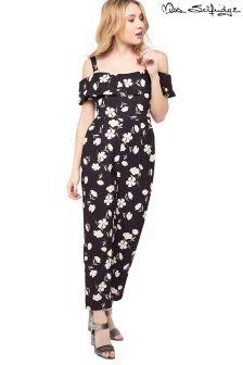 Miss Selfridge Petite Floral Bardot Jumpsuit