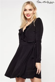 Miss Selfridge Petite Slinky Frill Wrap Dress