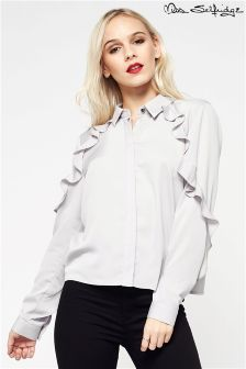 Miss Selfridge Petite Frill Shirt