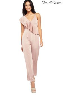 Miss Selfridge Petite Ruffle Detail Jumpsuit