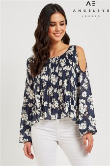 Angeleye Cold Shoulder Top