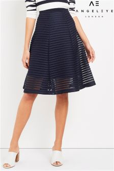 Angeleye Textured Midi Skirt