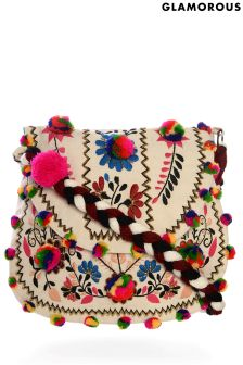 Glamorous Embroidered Folk Cross Body Bag