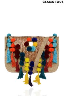 Glamorous Pom Tassle Cross Body Bag