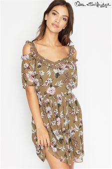 Miss Selfridge Floral Angel Sleeve Tea Dress