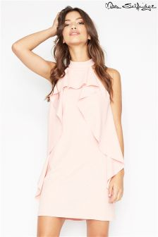 Miss Selfridge Frill Scuba Crepe Dress