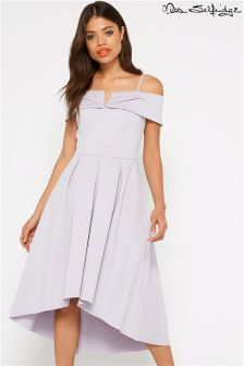 Miss Selfridge Scuba Bardot Dress