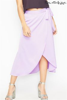 Miss Selfridge Wrap Midi Skirt