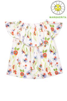 Margherita Kids Ruffle Bodice Top