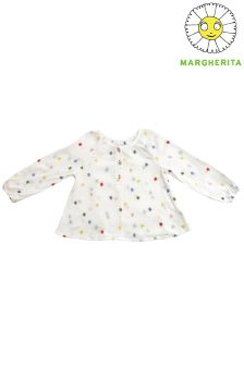 Margherita Kids Dot Print Blouse