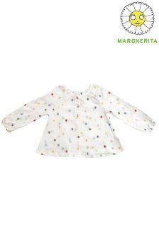 Margherita Kids Dot Print Blouse