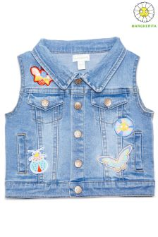 Margherita Kids Sleeveless Denim Jacket