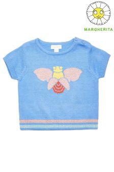 Margherita Kids Bug And Strip Design Jumper