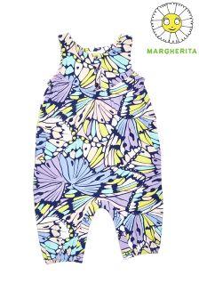 Margherita Kids Butterfly Print Onsie