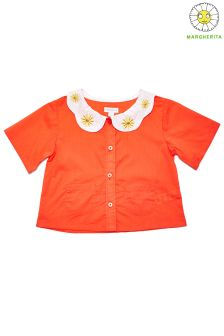 Margherita Kids Button Front Blouse