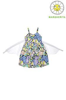 Margherita Kids Butterfly Print Dress