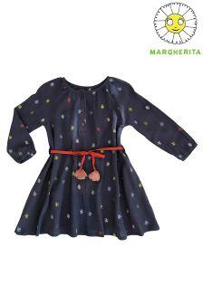 Margherita Kids Embroidered Pom Pom Dress