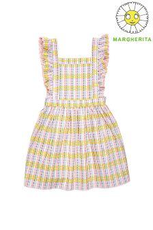 Margherita Kids Check Pinafore Dress